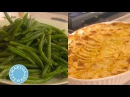 scalloped potatoes and green bean side dishes thanksgiving