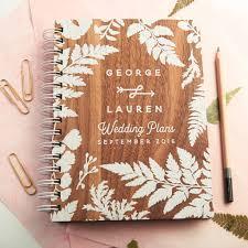 wedding planning notebook personalised walnut wedding planner oakdenedesigns
