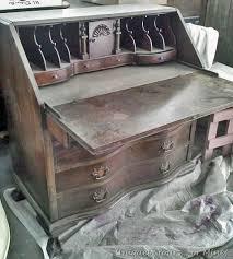Drop Front Secretary Desk by Vintage Claw Foot Drop Front Secretary Desk