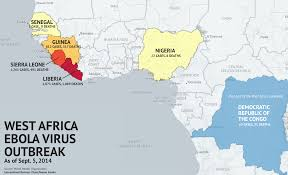 Benin Africa Map by Where Is The Ebola Outbreak Updated Map Of Ebola Virus Outbreak