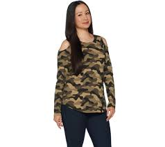 camo blouse camouflage prints must haves qvc com