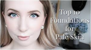Hair Color For White Skin Best Foundations For Pale Skin Youtube