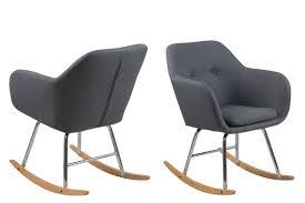 designer schaukelstuhl ac design furniture 64790 schaukelstuhl stoff dunkelgrau 71 x