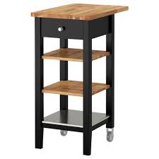 stenstorp kitchen trolley black brown oak 79x51x90 cm ikea
