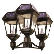Solar L Post Light Fixture Shop Gama Sonic Imperial 2 22 In H Black Solar Led Post Light At