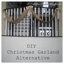 How To Decorate Banister With Garland 2perfection Decor Christmas Banister Burlap Garland