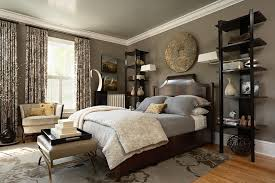 kilim beige paint color bedroom transitional with gray rug cotton