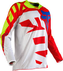 mens motocross jersey fox jersey 360 shiv red white 2016 maciag offroad