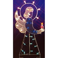 lighted outdoor christmas angels sacharoff decoration