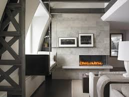 Contemporary Gas Fireplace Insert by New York Corner Gas Fireplaces Living Room Contemporary With Steel
