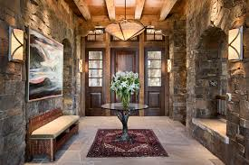 Minka Lavery Sconce Rustic Entryway With Specialty Door By Locati Architects Zillow
