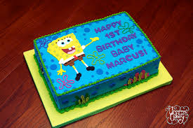 spongebob birthday cakes spongebob birthday cake vanilla cake with vanilla frosting flickr