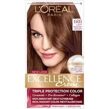 light reddish brown color l oreal paris excellence non drip crème 6rb light reddish brown