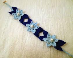 bracelet crochet pattern images Water lily lace bracelet pattern geekgirlcrochet jpg