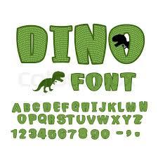 dino font dinosaur abc texture animal of jurassic period