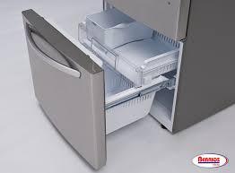 lg bottom freezer french door refrigerator 70850 lg 24 cu ft large capacity bottom freezer refrigerator