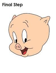 draw porky pig