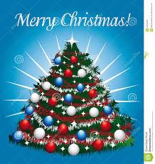 joyful greeting card with beautiful christmas tree stock