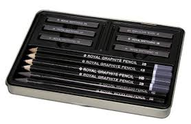 royal u0026 langnickel small tin graphite sketching set art bazaar