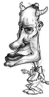 cartoon sketch of an evil clown coghill cartooning cartooning