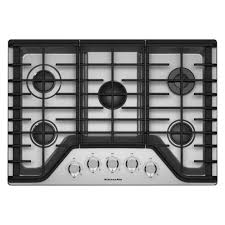New Wave Cooktop Reviews Kitchenaid 30 In Gas Cooktop In Stainless Steel With 5 Burners