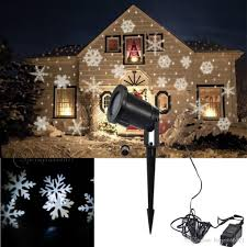 new moving sparkling led snowflake landscape laser projector