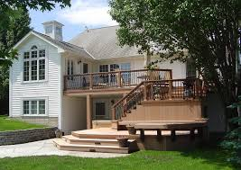 Deck Patio Design Pictures by Deck Accessories Timbertech Twinfinish Multi Level Deck And
