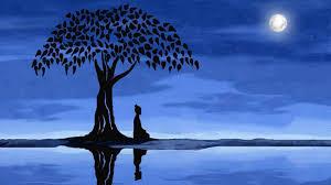 poem the tree the moon the the isha