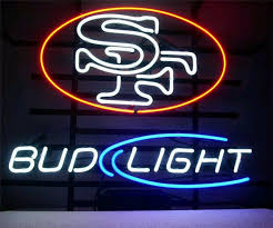 bud light nfl neon sign neon sign for led sf san francisco 49ers bud light sign signboard