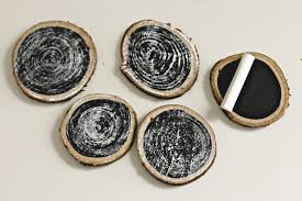 wood slice chalkboard ornaments organize and decorate everything