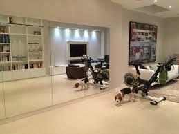 floor to ceiling mirrors for home gym vanity decoration