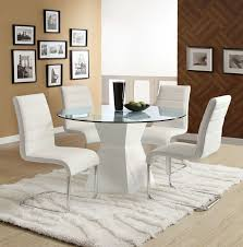 round table santee ca cm8371t mauna white glass round dining table 4 chairs glass
