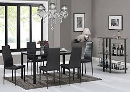 glass dining room sets ebs black glass dining table set and 6 chairs dining room furniture