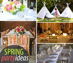 Spring Decoration by Plain Spring Party Decorating Ideas Decorations Throughout