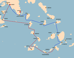 Map Of Greece Islands by Sailing Route Cyclades Islands I Sail Greece Yacht Charters