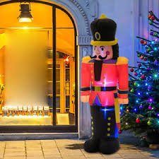 Inflatable Nutcracker Christmas Decorations by