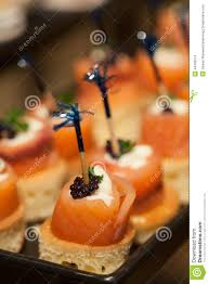 foods and fruit for cocktail on wedding party stock photo image