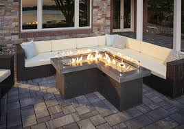 Patio Table With Firepit Wood Burning Pit Table Propane Outdoor Dining With