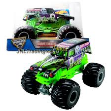 grave digger radio control monster truck wheels year 2016 monster jam 1 24 scale die cast truck black