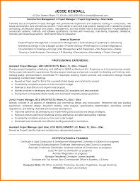 Resume Samples General Contractor by 6 Project Management Experience Introduction Letter