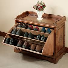 old and vintage closed shoe rack with drawer storage stand ideas