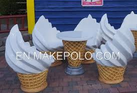ice cream table and chairs fiberglass ice cream table and chair resin crafts makepolo