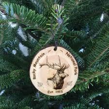 rocky mountain national park bark ornaments