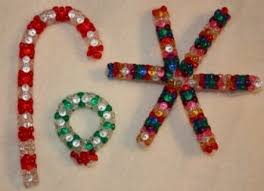 bead and pipecleaner ornaments ornament