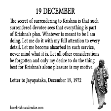 srila prabhupada s quotes for 19 december hare krishna calendar