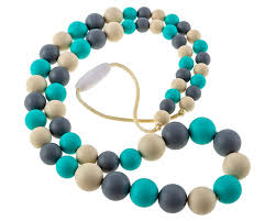silicone bead necklace images Chew choos 39 playdate 39 silicone nursing necklace modern eco jpg