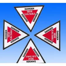siege ejectable patch danger siège ejectable triangle