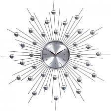 amazing modern silver wall clock 132 large modern silver wall