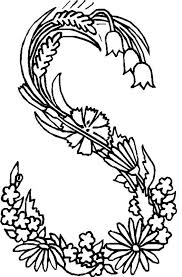 alphabet flower coloring pages coloring flower