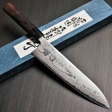 shinji fujishita damascus aogami blue steel 2 gyuto chef u0027s knife